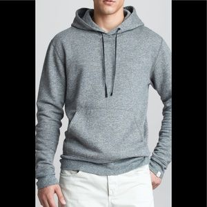 Rag and bone sweatshirt hoodie with suede patches